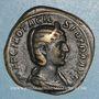 Monnaies Otacilie, épouse de Philippe I. Sesterce. Rome, 245-247. R/: la Concorde