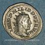 Monnaies Philippe I (244-249). Antoninien. Rome, 249. R/: quatre enseignes