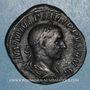 Monnaies Philippe I (244-249). Sesterce. Rome, 244-245. R/: la Fidélité