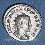 Monnaies Philippe II, auguste (247-249). Antoninien. Rome, 3e officine, 248. R/: Mars nu, le manteau flottant