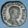 Monnaies Philippe II, césar sous Philippe I (244-247). Sesterce. Rome, 245-246. R/: Philippe
