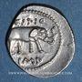 Monnaies Q. Caecilius Metellus Pius Scipio (vers 48-46 av. J-C). Denier. Afrique du Nord, vers 47-46 av. J-C