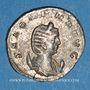 Monnaies Salonine, épouse de Gallien. Antoninien. Rome, 4e officine. 263-264. R/: Vesta
