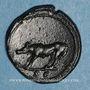 Monnaies Trajan (98-117). Quadrans. Rome, 107. R/: louve