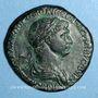 Monnaies Trajan (98-117). Sesterce. Rome, 116. R/: La Félicité