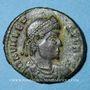 Monnaies Valens (364-378). Centénionalis. Siscia, 1ère officine, 364-367. R/: Victoire