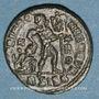Monnaies Valentinien I (364-375). Centénionalis. Siscia, 2e officine, 367-375. R/: Valentinien debout à droit