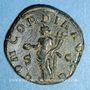 Monnaies Volusien, auguste (251-253). Sesterce. Rome, 252. R/: la Concorde
