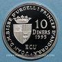 Monnaies Andorre. Principauté. 10 diners 1995. Admission au Conseil de l'Europe. (PTL 925/1000. 31,47 g)