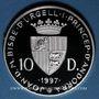 Monnaies Andorre. Principauté. 10 diners 1997. 16e coupe du Monde de Fottball - France