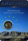 Monnaies Andorre. Principauté. 2 euro 2014. 20e anniversaire Conseil de L'Europe