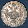 Monnaies Autriche. François Joseph I (1848-1916). 1/4 florin 1858A. Vienne
