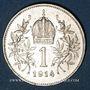 Monnaies Autriche. François Joseph I (1848-1916). 1 couronne 1914