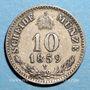Monnaies Autriche. François Joseph I (1848-1916). 10 kreuzer 1859M. Milan
