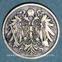 Monnaies Autriche. François Joseph I (1848-1916). 20 heller 1892