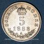 Monnaies Autriche. François Joseph I (1848-1916). 5 kreuzer 1858A. Vienne