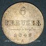 Monnaies Autriche. François Joseph I (1848-1916). 6 kreuzer 1849A. Vienne