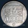 Monnaies Autriche. République. 100 schilling (1976). Jeux olympiques d'hiver d'Innsbruck. Tremplin-écusson