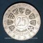Monnaies Autriche. République. 25 schilling 1955. Réouverture du Théâtre National