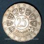 Monnaies Autriche. République. 25 schilling 1956. Mozart