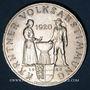 Monnaies Autriche. République. 25 schilling 1960. 40e anniversaire du référundum de la Carinthie