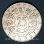 Monnaies Autriche. République. 25 schilling 1961. Burgenland