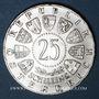 Monnaies Autriche. République. 25 schilling 1962. Bruckner