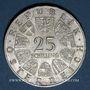 Monnaies Autriche. République. 25 schilling 1967. Marie-Thérèse