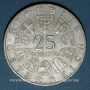 Monnaies Autriche. République. 25 schilling 1971. 200e anniversaire de la bourse de Vienne