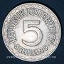 Monnaies Autriche. République. 5 schilling 1952
