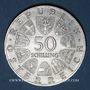 Monnaies Autriche. République. 50 schilling 1966. Banque Nationale Autrichienne