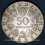 Monnaies Autriche. République. 50 schilling 1967. 100e anniversaire de la valse Le Beau Danube Bleu