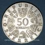 Monnaies Autriche. République. 50 schilling 1968. 50e anniversaire de la République