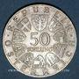 Monnaies Autriche. République. 50 schilling 1969. Maximilien I