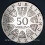 Monnaies Autriche. République. 50 schilling 1971. Julius Raab