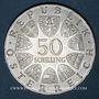 Monnaies Autriche. République. 50 schilling 1973. 500e anniversaire de la maison Bummerlhaus à Steyr