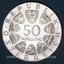 Monnaies Autriche. République. 50 schilling 1973. Théodore Körner