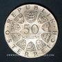Monnaies Autriche. République. 50 schilling 1974. 1200e anniversaire de la cathédrale de Salzbourg