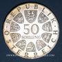 Monnaies Autriche. République. 50 schilling 1974. Exposition florale internationale de Vienne