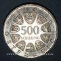 Monnaies Autriche. République. 500 schilling 1980. Staatsvertrag