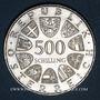 Monnaies Autriche. République. 500 schilling 1981. Verduner Altar