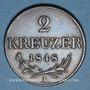 Monnaies Autriche. Révolution (1848-1849). 2 kreuzer 1848A