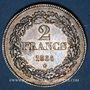 Monnaies Belgique. Léopold I (1831-1865). 2 francs 1834