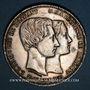 Monnaies Belgique. Léopold I (1831-65). Module de 5 francs 1853 Mariage du duc et de la duchesse de Brabant