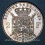 Monnaies Belgique. Léopold II (1865-1909). 2 francs 1880. Type du cinquantenaire