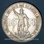Monnaies Belgique. Léopold III (1934-1950). 50 francs 1935. Centenaire des Chemins de Fer Belges. Légende fr.