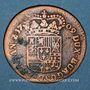 Monnaies Belgique. Namur. Philippe V (1700-1711). Liard 1709