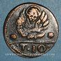 Monnaies Candia (Crète). Domination vénitienne. 2 1/2 soldino, n.d.