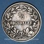Monnaies Danemark. Frédéric VII (1848-1863). 1/2 rigsdaler 1854FK/VS