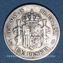 Monnaies Espagne. Alphonse XII (1874-1885). 1 pesetas 1885/85MS-M